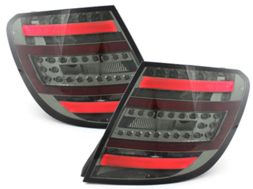 LED Taillights For Mercedes W204 2011-2014 Facelift Design Rear Tail Lamps